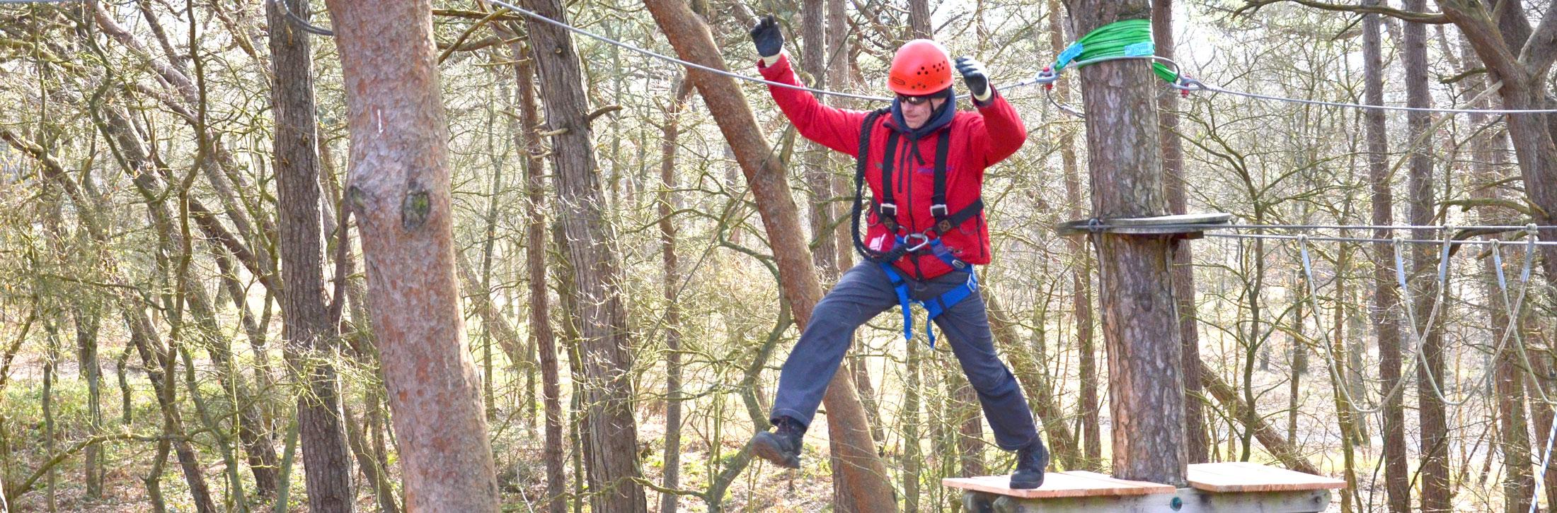 Aktivitäten-Wald-Sprung-Head